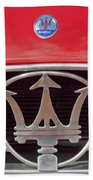 1954 Maserati A6 Gcs Emblem Beach Towel by Jill Reger