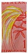 1954 Netherlands New Guinea Paradise Bird Stamp Beach Towel