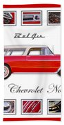 1955 Chevrolet Belair Nomad Art Beach Towel