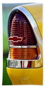 1955 Chevrolet Taillight Emblem Beach Towel