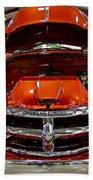 1955 Chevrolet Truck-american Classics-front View Beach Towel