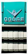1955 Dodge C-3-b8 Pickup Truck Grille Emblem Beach Towel by Jill Reger
