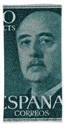 1955 General Franco Spanish Stamp Beach Towel