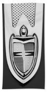 1955 Lincoln Indianapolis Boano Coupe  Emblem -0283bw Beach Towel