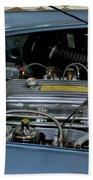1956 Austin Healey Engine Beach Towel