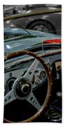 1956 Austin Healey Interior Beach Towel