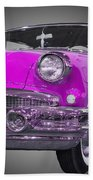 1956 Buick Special Riviera Coupe-purple Beach Towel