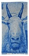 1956 Canada Mountain Goat Stamp Beach Towel