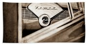 1956 Chevrolet Belair Nomad Dashboard Emblem Beach Towel
