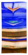 1956 Chevy - Blue Beach Towel