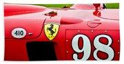1956 Ferrari 410 Sport Scaglietti Spyder Beach Towel