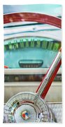 1956 Ford Thunderbird Steering Wheel -260c Beach Towel