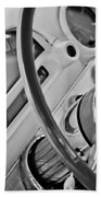 1956 Ford Thunderbird Steering Wheel -322bw Beach Towel