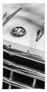 1956 Hudson Rambler Station Wagon Grille Emblem - Hood Ornament Beach Towel by Jill Reger