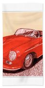 1956 Porsche 356 Cabriolet Beach Towel