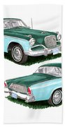 1956 Studebaker Coming And Going Beach Towel