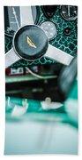 1957 Aston Martin Dbr2 Steering Wheel Emblem -2345c Beach Towel