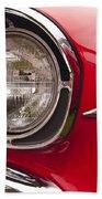 1957 Chevrolet Bel Air Headlight Beach Towel