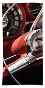1957 Chevrolet Bel Air Steering Wheel Beach Towel