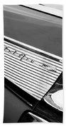 1957 Chevrolet Belair Convertible Taillight Emblem Beach Towel