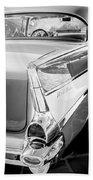 1957 Chevrolet Belair Coupe Tail Fin -019bw Beach Towel