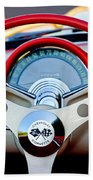 1957 Chevrolet Corvette Convertible Steering Wheel Beach Towel