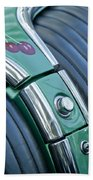 1957 Chevrolet Corvette Glove Box Beach Towel by Jill Reger