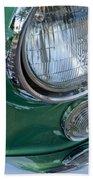 1957 Chevrolet Corvette Head Light Beach Towel