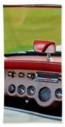 1957 Chevrolet Corvette Roadster Dashboard Beach Towel