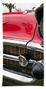 1957 Chevy Bel Air Front End Beach Towel