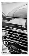 1957 Ford Fairlane Grille -107bw Beach Towel