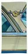 1957 Mercury Monterey Sedan Emblem Beach Towel