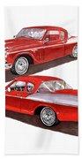 1957 Studebaker Silver Hawk Beach Towel