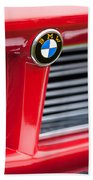 1958 Bmw 3200 Michelotti Vignale Roadster Grille Emblem -2414c Beach Towel