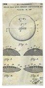 1958 Bowling Patent Drawing Beach Towel