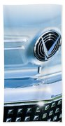 1958 Buick Roadmaster 75 Convertible Grille Emblem Beach Towel