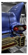 1958 Cadillac Deville Taillight Beach Towel