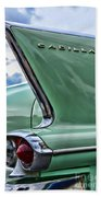 1958 Cadillac It's All In The Fin. Beach Towel