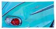 1958 Chevrolet Belair Taillight 2 Beach Towel