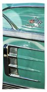 1958 Chevrolet Impala Emblem Beach Towel