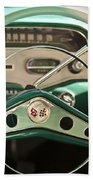 1958 Chevrolet Impala Steering Wheel Beach Towel