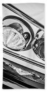 1958 Chevrolet Impala Taillight -0289bw Beach Towel