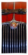 1958 Jaguar Xk150 Roadster Grille Emblem Beach Towel