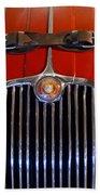 1958 Jaguar Xk150 Roadster Grille Emblem Beach Towel by Jill Reger