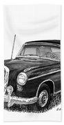 1958 Mercedes Benz 220s Beach Towel
