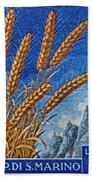 1958 San Marino Stamp Beach Towel