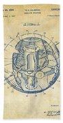 1958 Space Satellite Structure Patent Vintage Beach Towel