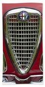 1959 Alfa Romeo Giulietta Sprint Grille Beach Towel