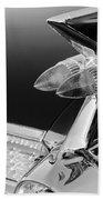 1959 Cadillac Eldorado Taillight -075bw Beach Towel