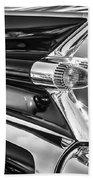 1959 Cadillac Eldorado Taillight -097bw Beach Towel